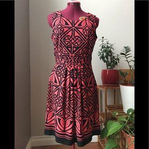 Cynthia Rowley - Orange and black dress -